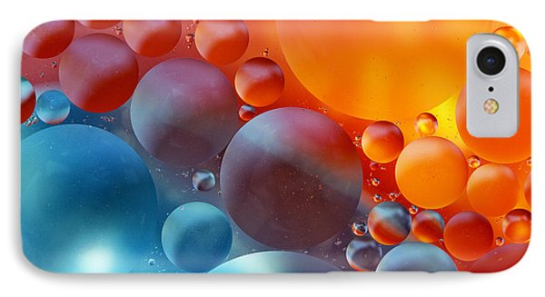 Colorful Oil Drops On A Water Surface IPhone Case by Odon Czintos