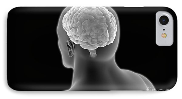 Conceptual Image Of Human Brain Phone Case by Stocktrek Images