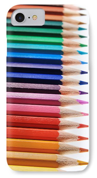 Crayons IPhone Case by Chevy Fleet
