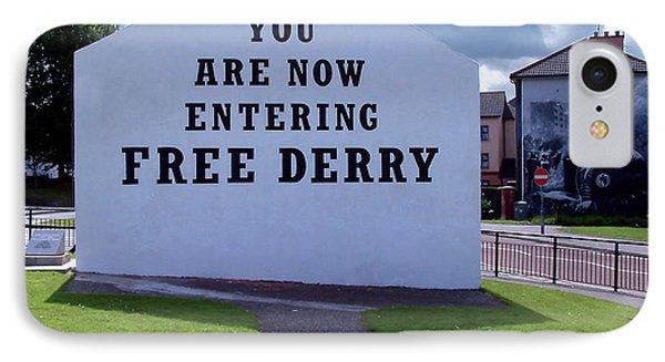 Free Derry Corner IPhone Case by Nina Ficur Feenan