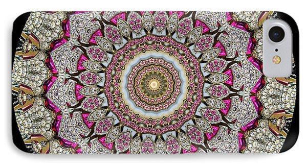 Kaleidoscope Colorful Jeweled Rhinestones Phone Case by Amy Cicconi