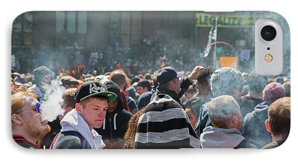 Legalisation Of Marijuana Rally IPhone Case by Jim West