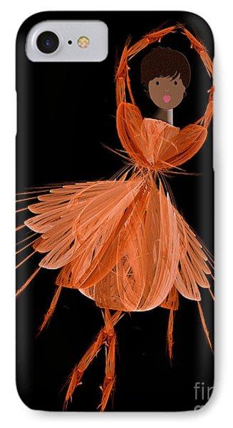 7 Orange Ballerina Phone Case by Andee Design