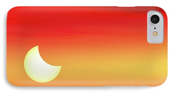Partial Solar Eclipse IPhone Case