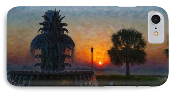 Pineapple Fountain At Dawn IPhone Case