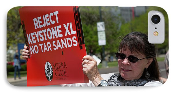 Protest Against Keystone Xl Pipeline IPhone Case by Jim West