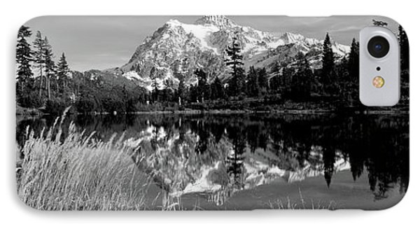 Reflection Of Mountains In A Lake, Mt IPhone Case