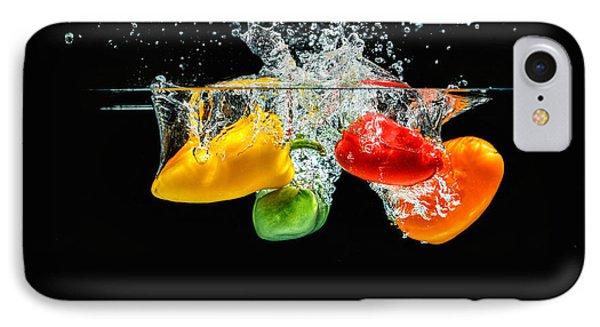 Splashing Paprika IPhone Case by Peter Lakomy