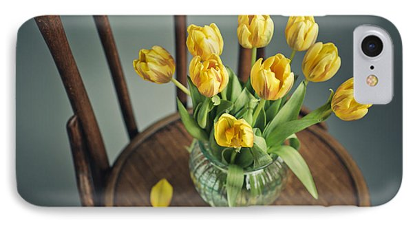 Still Life With Yellow Tulips IPhone Case