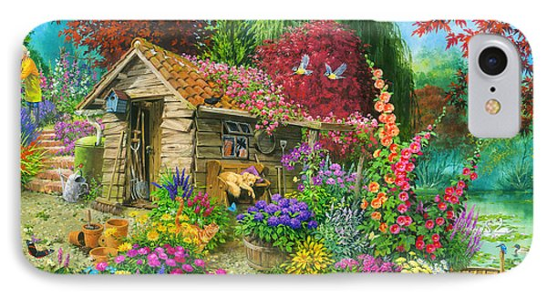 The Garden Shed Variant 1 IPhone Case by John Francis
