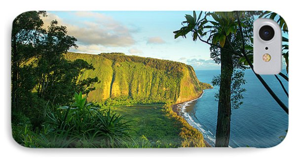 Waipio Valley, Hamakua Coast, Big IPhone Case by Douglas Peebles