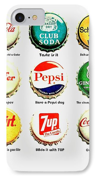 70s Soft Drink Slogans IPhone Case by Benjamin Yeager