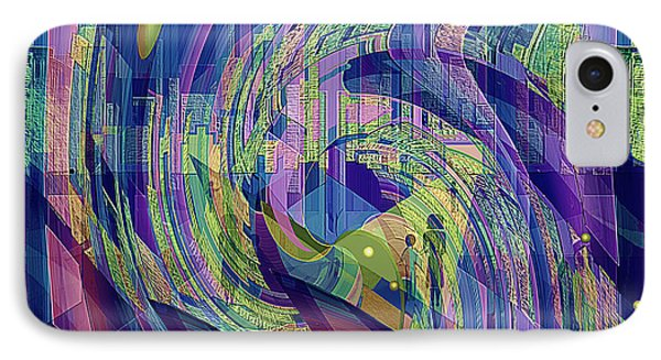 729 -  Big City Dwelling 2  IPhone Case by Irmgard Schoendorf Welch
