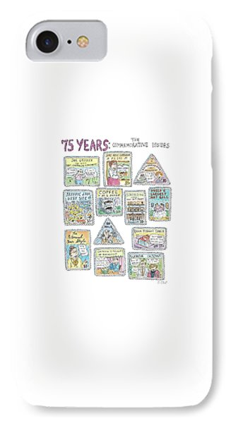 '75 Years:  The Commemorative Issues' IPhone Case by Roz Chast