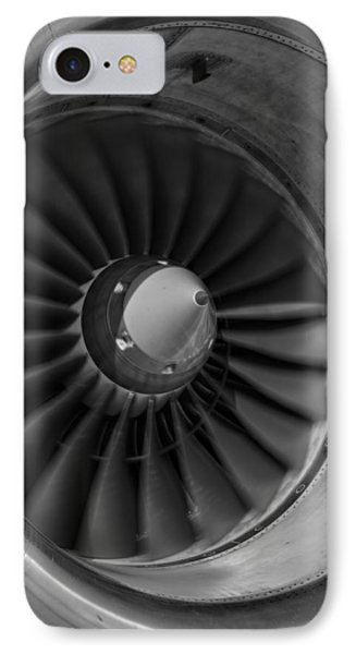 757 Engine Black And White IPhone Case