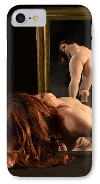 7823 Nude Viewing Herself In Mirror IPhone Case