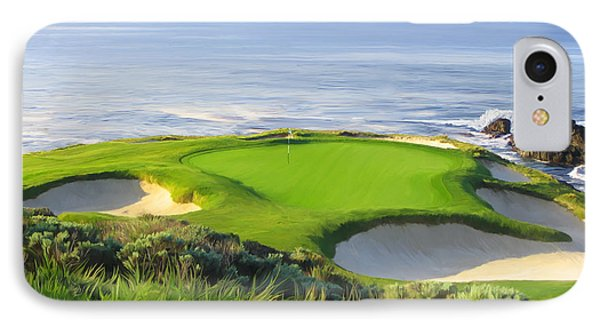 Golf iPhone 7 Case - 7th Hole At Pebble Beach by Tim Gilliland