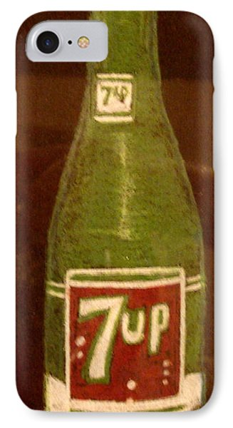 IPhone Case featuring the pastel 7up Bottle by Joseph Hawkins