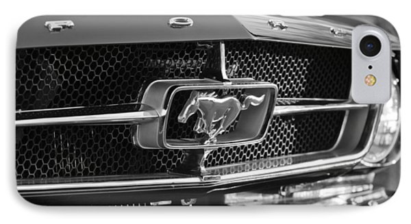 1965 Shelby Prototype Ford Mustang Grille Emblem IPhone Case by Jill Reger