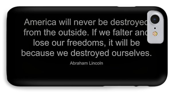Abraham Lincoln Quote IPhone Case