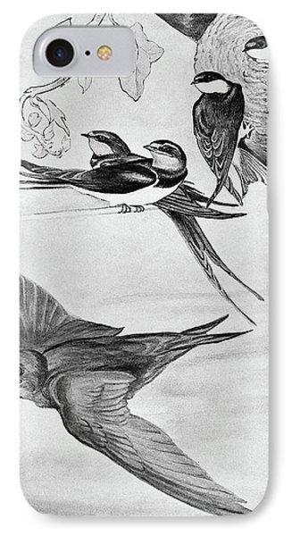 Blackburn Birds, 1895 IPhone Case by Granger
