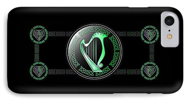 Celtic Harp IPhone Case by Ireland Calling