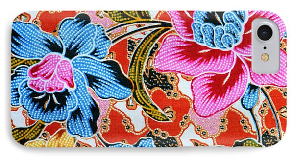 Colorful Batik Cloth Fabric Background  Phone Case by Prakasit Khuansuwan