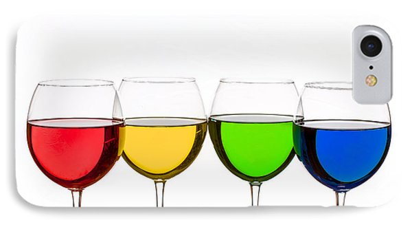 Colorful Wine Glasses IPhone Case