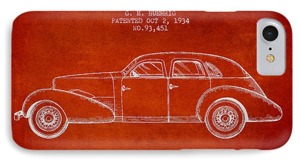 Cord Automobile Patent From 1934 IPhone Case
