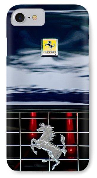 Ferrari Hood Emblem Phone Case by Jill Reger