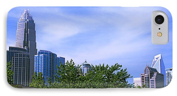 Low Angle View Of Skyscrapers IPhone Case by Panoramic Images