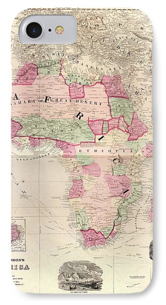 Map Of Africa IPhone Case by Library Of Congress, Geography And Map Division