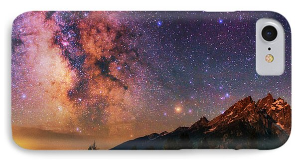 Milky Way Over Grand Teton National Park IPhone Case