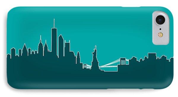 New York Skyline IPhone Case by Michael Tompsett