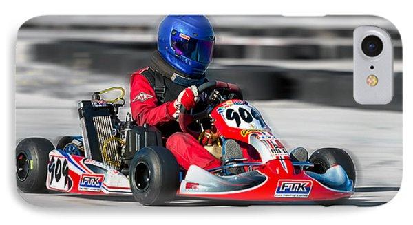 Racing Go Kart IPhone Case by Gunter Nezhoda
