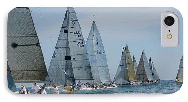 Sailboat Race IPhone Case by Randy J Heath