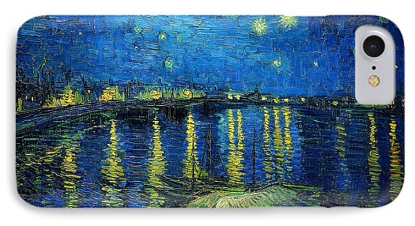 Starry Night Over The Rhone IPhone Case by Vincent van Gogh