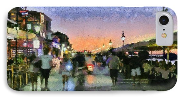 Sunset In Lefkada Town IPhone Case
