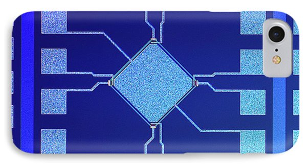 Surface Of Microchip IPhone Case by Alfred Pasieka