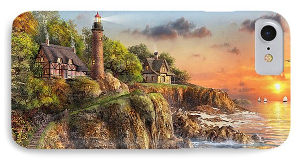 Sunset At Craggy Point IPhone Case by Dominic Davison