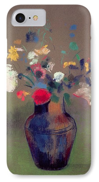 Vase Of Flowers Phone Case by Odilon Redon