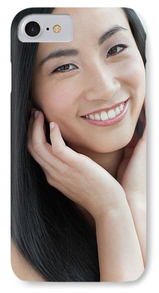 Woman Smiling IPhone Case
