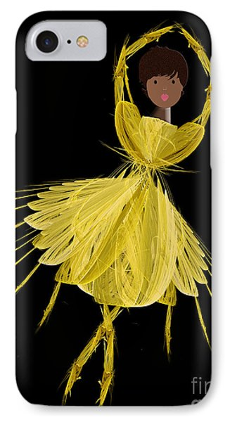 8 Yellow Ballerina Phone Case by Andee Design