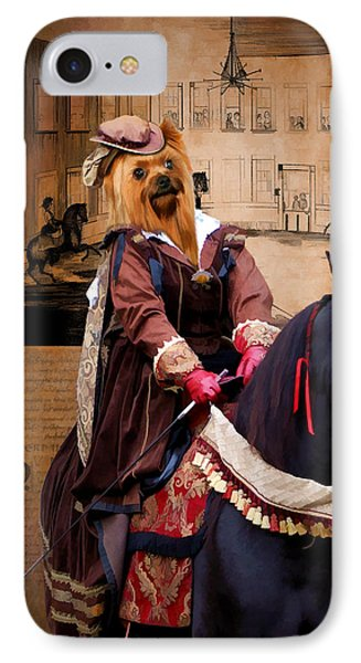 Yorkshire Terrier Art Canvas Print IPhone Case by Sandra Sij