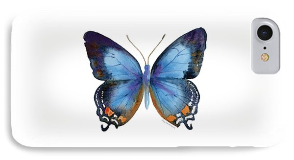 80 Imperial Blue Butterfly IPhone Case