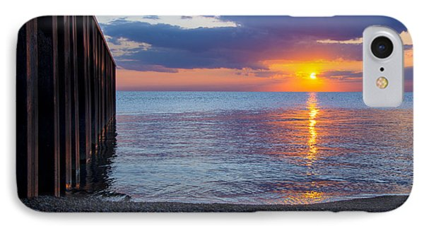 IPhone Case featuring the photograph 8.16.13 Sunrise Over Lake Michigan North Of Chicago 001 by Michael  Bennett
