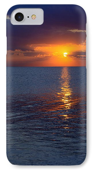 IPhone Case featuring the photograph 8.16.13 Sunrise Over Lake Michigan North Of Chicago 002 by Michael  Bennett