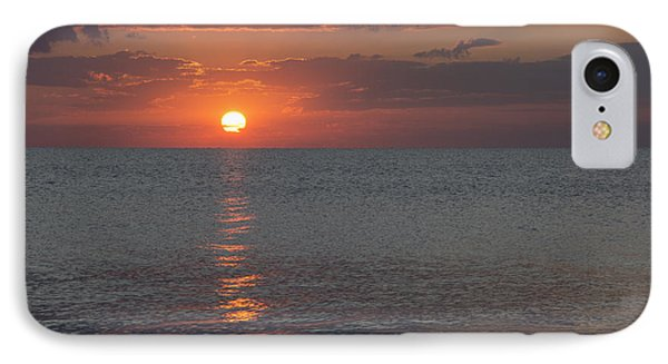 IPhone Case featuring the photograph 8.16.13 Sunrise Over Lake Michigan North Of Chicago 004 by Michael  Bennett
