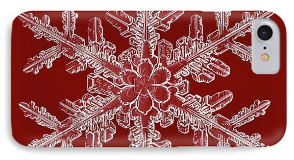 Snowflake IPhone Case by Kenneth Libbrecht
