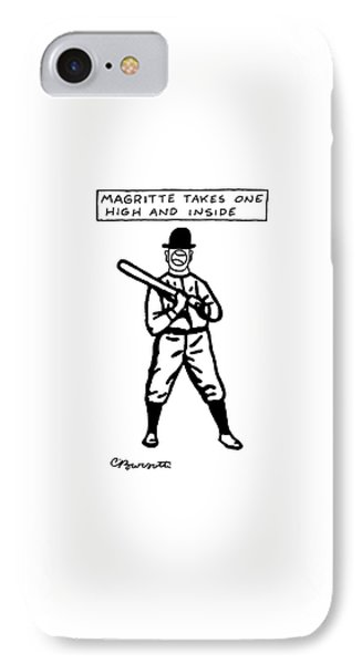 Magritte Takes One High IPhone Case by Charles Barsotti